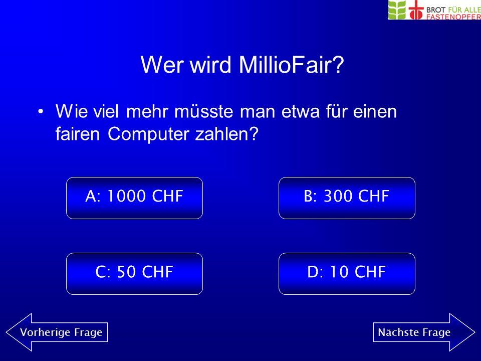 Wer wird MillioFair? Vorherige FrageNächste Frage Was für Symptome können bei Kontakt mit Blei auftreten? A: Haarwachstum, Schluckauf B: Nieren- und N