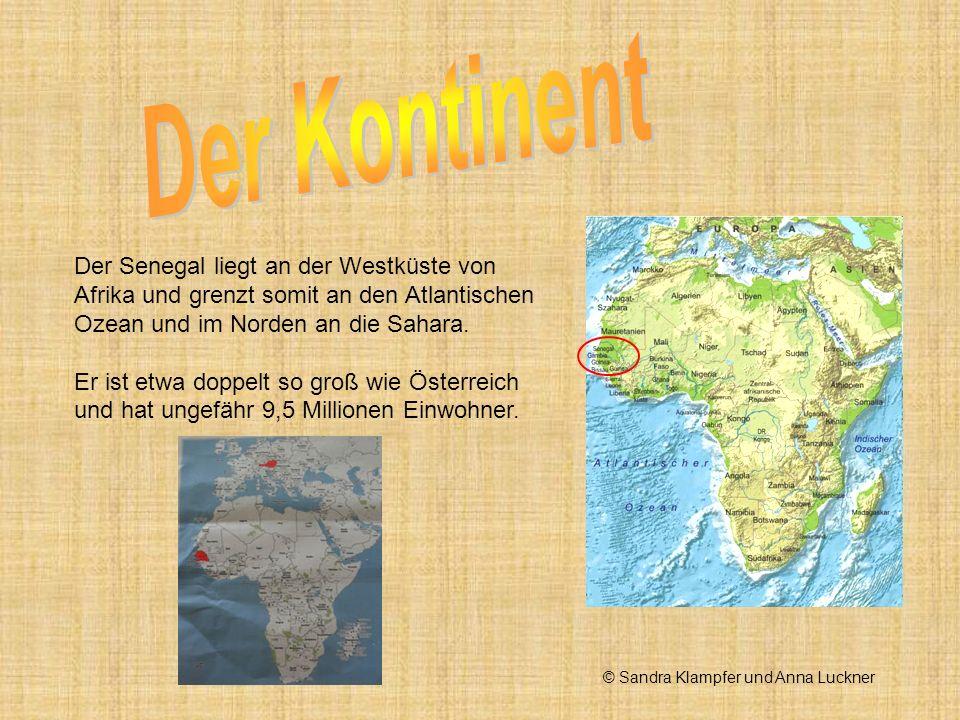 Der Senegal liegt an der Westküste von Afrika und grenzt somit an den Atlantischen Ozean und im Norden an die Sahara. Er ist etwa doppelt so groß wie