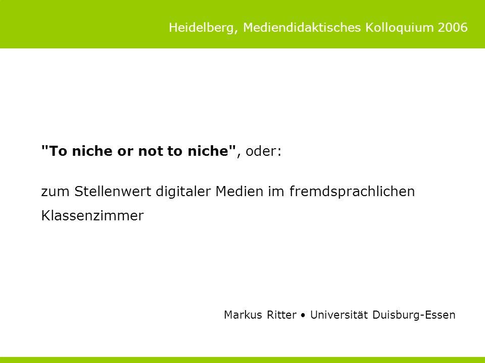 Heidelberg, Mediendidaktisches Kolloquium 2006