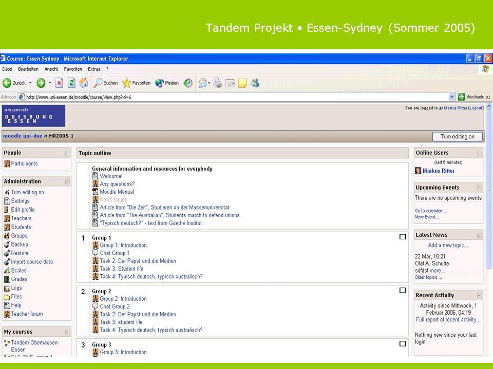 Tandem Projekt Essen-Sydney (Sommer 2005)