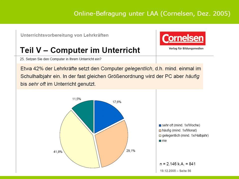 Online-Befragung unter LAA (Cornelsen, Dez. 2005)