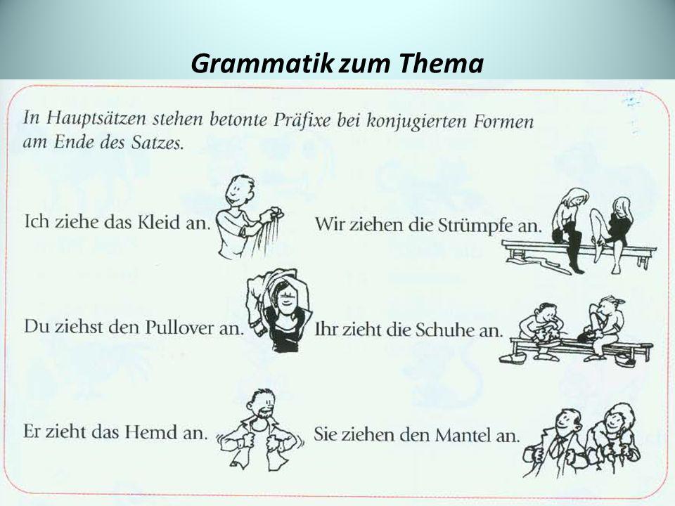 Grammatik zum Thema