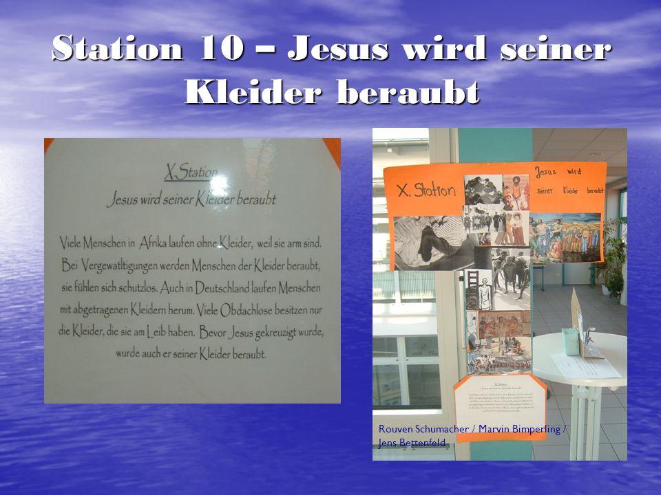 Station 12 – Jesus stirbt am Kreuz Dominik Trapp / Sebastian Scharfe