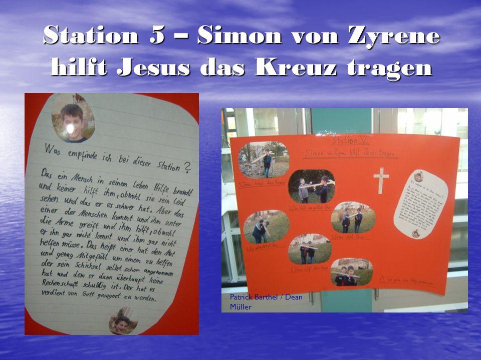 Station 6 – Veronika reicht Jesus das Schweißtuch Tobias Buchheit / Philipp Lorscheider / Felix Schmitt