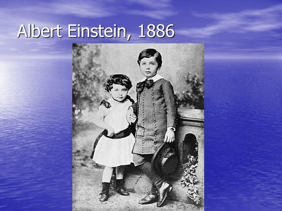 Albert Einstein, 1886