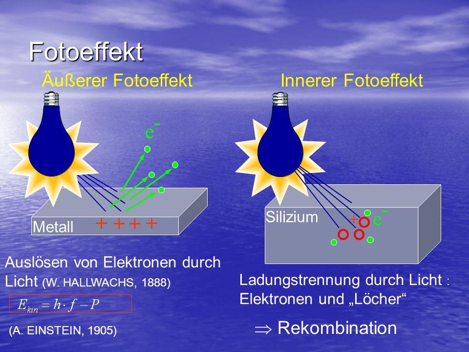 Bändermodell Energieniveauschema Einzelatom: Elektronen können nur ganz bestimmte Ener- giewerte annehmen.