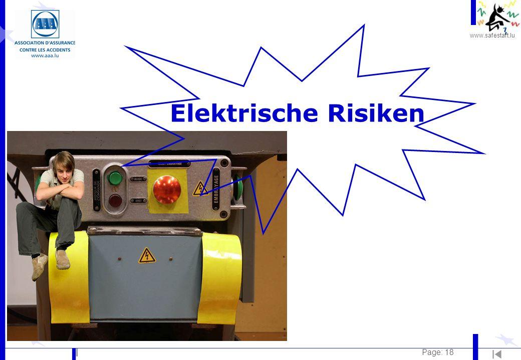 www.safestart.lu Page: 18 Elektrische Risiken