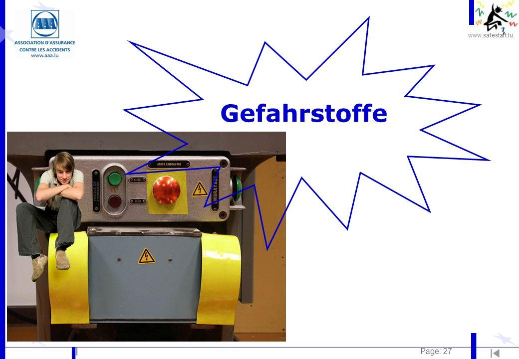 www.safestart.lu Page: 27 Gefahrstoffe