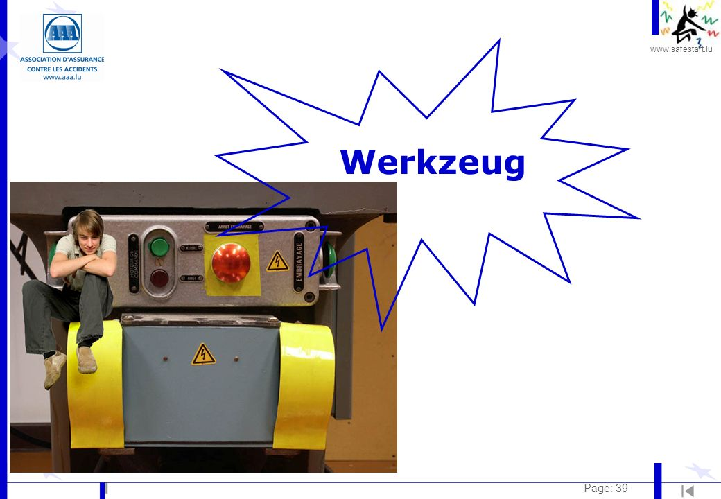 www.safestart.lu Page: 39 Werkzeug