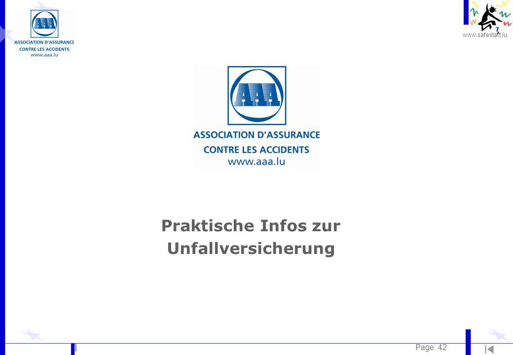 www.safestart.lu Page: 42 Praktische Infos zur Unfallversicherung