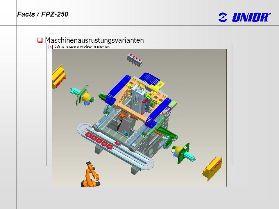 FPZ- 250 Maschine Transportband Motorkühlsystem Bedienungspult Hydraulikaggregat Pneumatik Schmieraggregat Elektroschrank Facts / FPZ-250