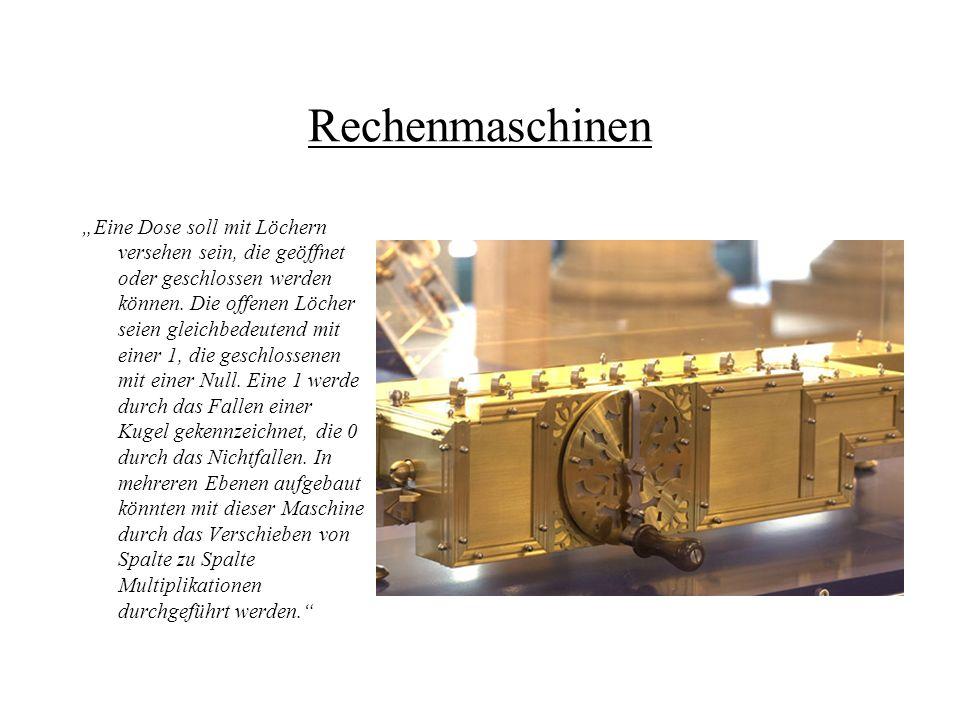 Programmierte Maschinen Joseph-Marie Jacquard (1752 - 1834) Er machte durch einen besonderen Mechanismus das arbeits- und zeitaufwendige Auflesen der Latzen und ihre Bedienung durch den Ziehjungen überflüssig.