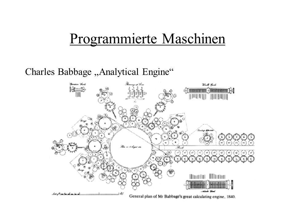 Programmierte Maschinen Charles Babbage Analytical Engine