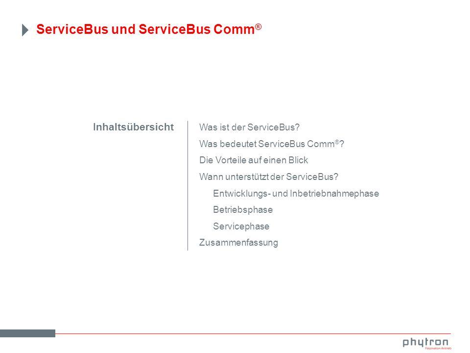 ServiceBus und ServiceBus Comm ® Was ist der ServiceBus.