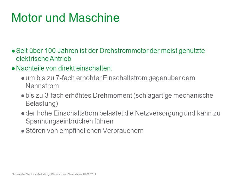 Schneider Electric- Marketing - Christian von Ehrenstein - 25.02.2012 Motor und Maschine Seit über 100 Jahren ist der Drehstrommotor der meist genutzt