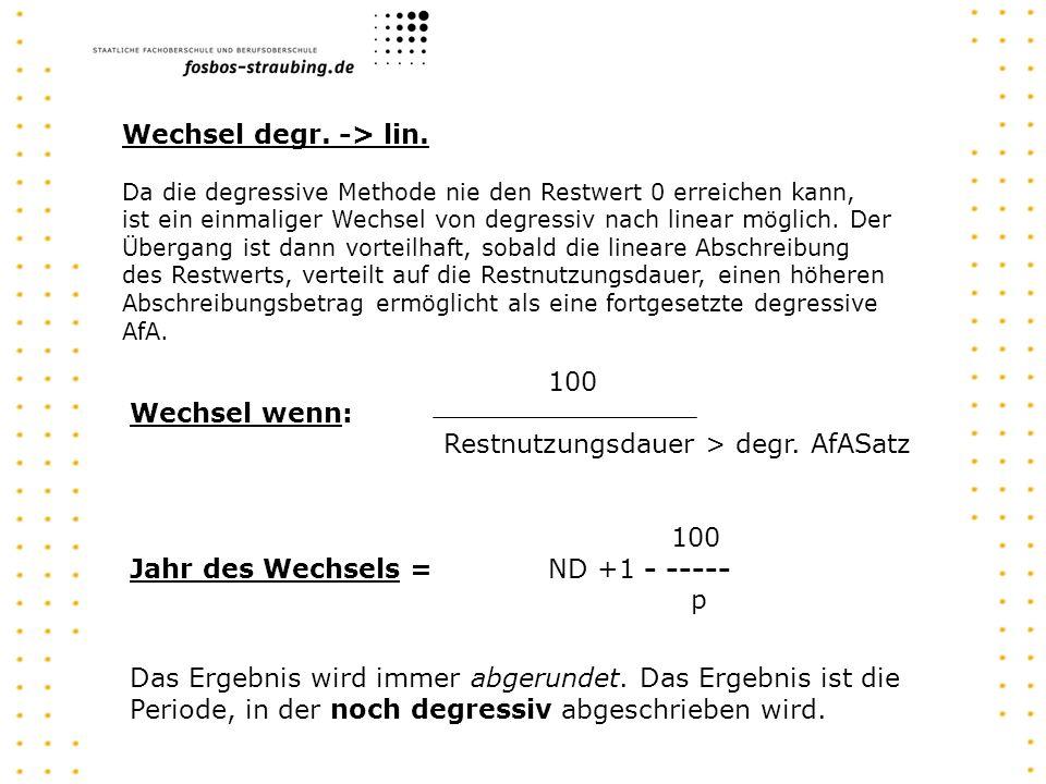AK - AfA 01 = RW 31.12.01 - AfA 02 = RW 31.12.02 - AfA 03 = RW 31.12.03 - AfA 04 = RW 31.12.04 - AfA 05 = RW 31.12.05 - AfA 06 = RW 31.12.06 - AfA 07 = RW 31.12.07 - AfA 08 = RW 31.12.08 - AfA 09 = RW 31.12.09 Degr.
