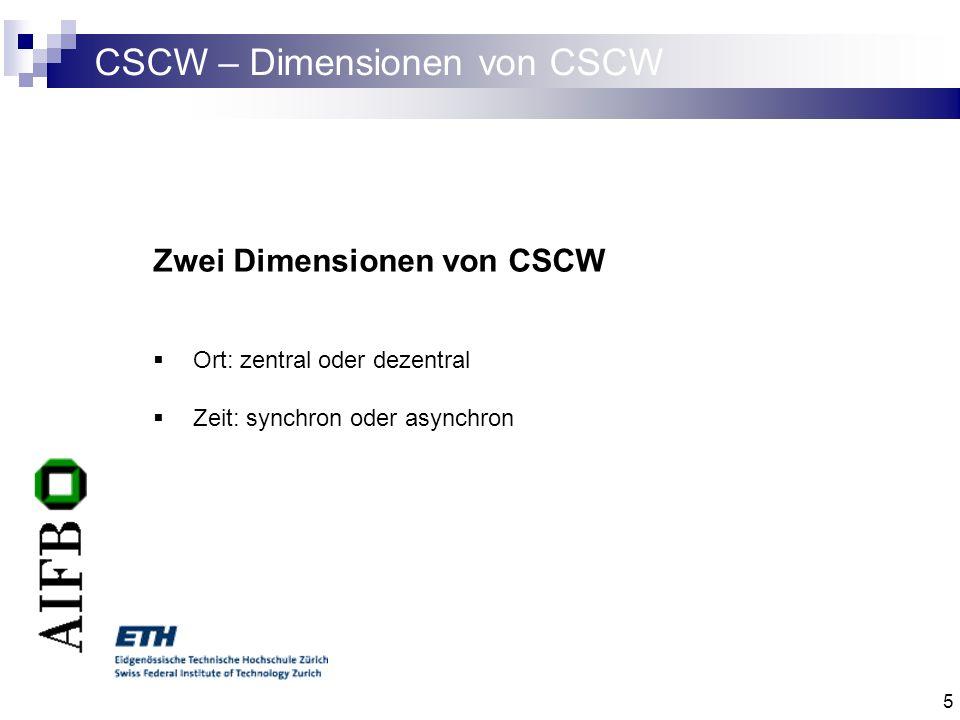 6 CSCW – Technologien I Koordination allgemein die Verwaltung von Abhängigkeiten zwischen zielgerichteten Aktivitäten.