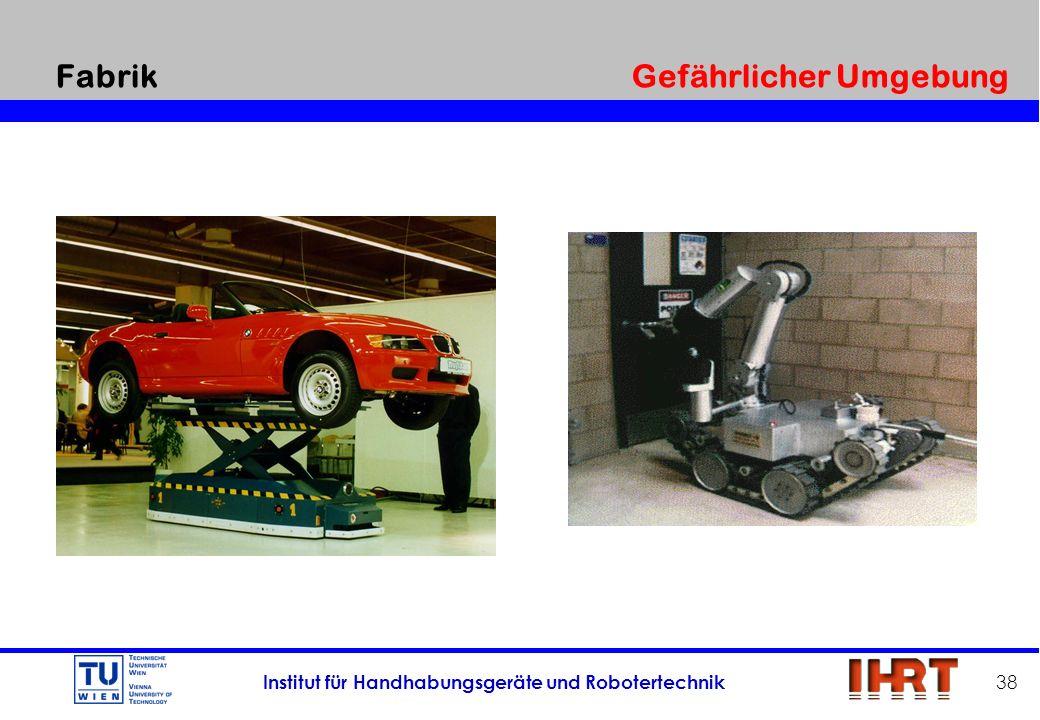 Institut für Handhabungsgeräte und Robotertechnik 38 Fabrik Gefährlicher Umgebung