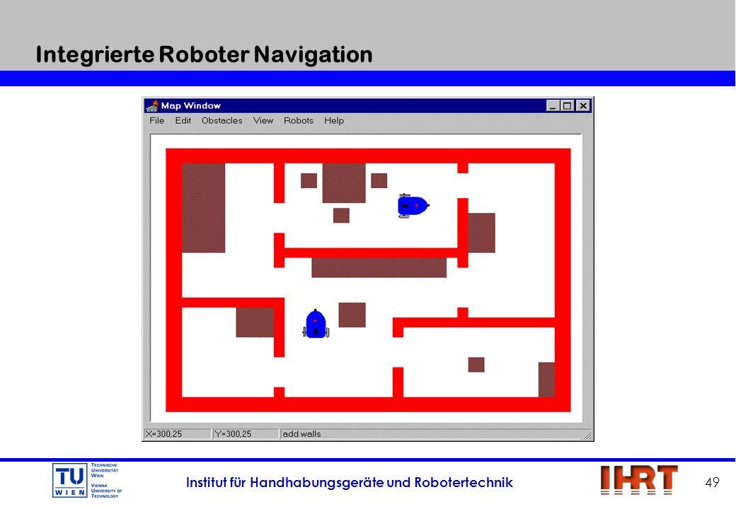 Institut für Handhabungsgeräte und Robotertechnik 49 Integrierte Roboter Navigation
