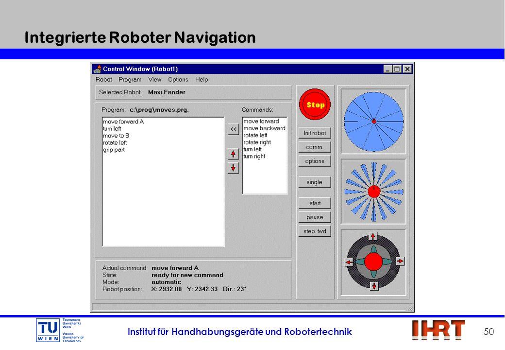 Institut für Handhabungsgeräte und Robotertechnik 50 Integrierte Roboter Navigation