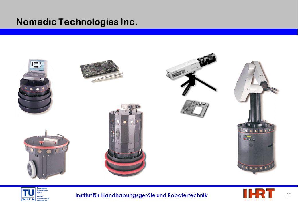 Institut für Handhabungsgeräte und Robotertechnik 60 Nomadic Technologies Inc.