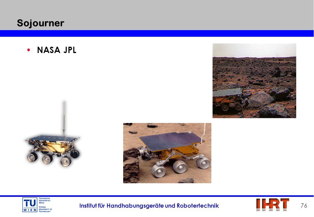 Institut für Handhabungsgeräte und Robotertechnik 76 Sojourner NASA JPL