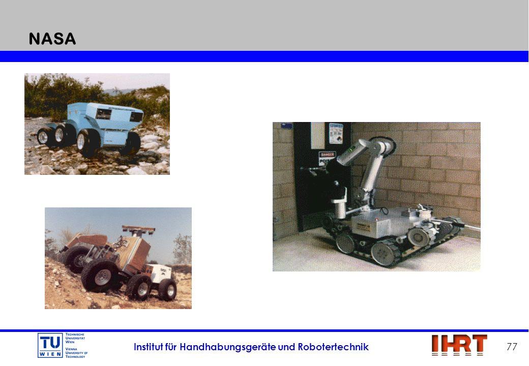 Institut für Handhabungsgeräte und Robotertechnik 77 NASA