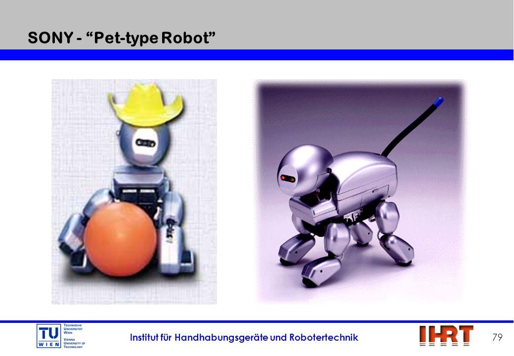 Institut für Handhabungsgeräte und Robotertechnik 79 SONY - Pet-type Robot