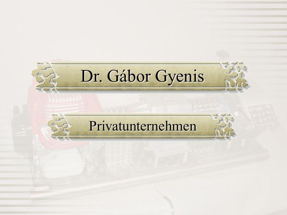 Dr. Gábor Gyenis Privatunternehmen
