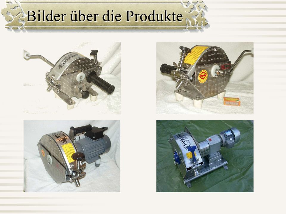 Bilder über die Produkte