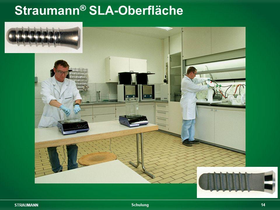 STRAUMANN 14 Schulung Straumann ® SLA-Oberfläche
