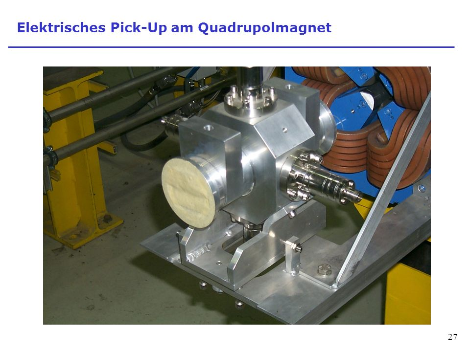 27 Elektrisches Pick-Up am Quadrupolmagnet