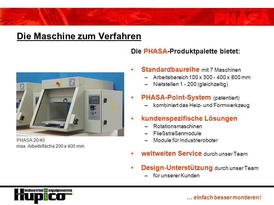 … einfach besser montieren . Die Maschine zum Verfahren PHASA 20/40 max.