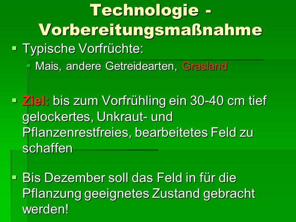 Technológia - szaporítóanyag Technologie - Vermehrungsmaterial Qualität!!!