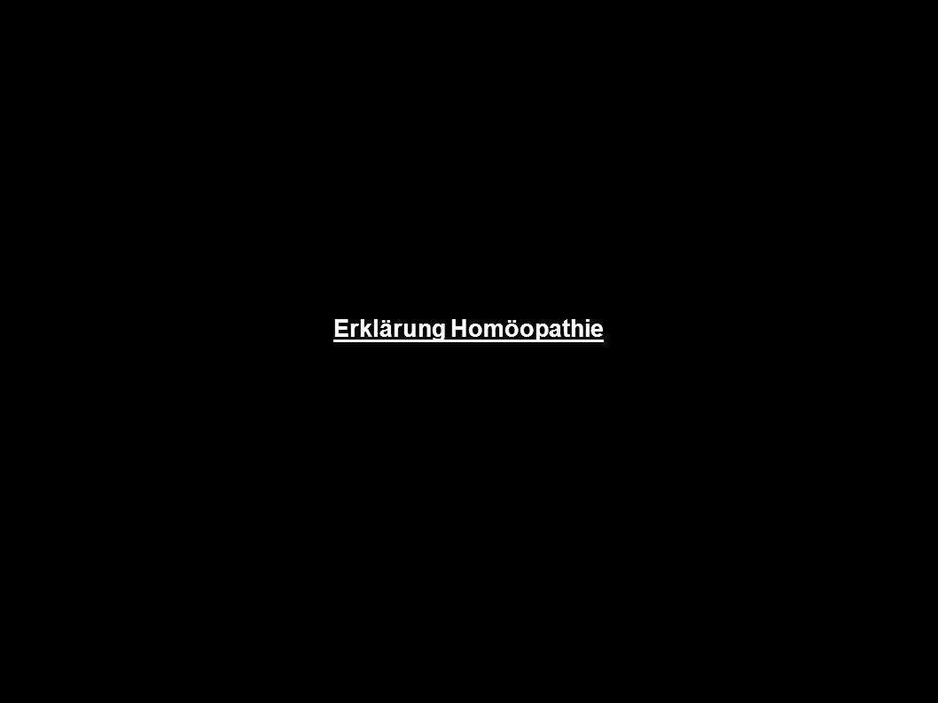 Erklärung Homöopathie