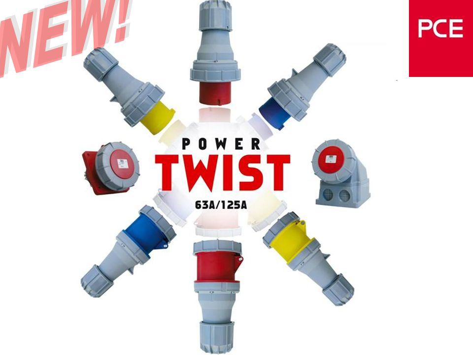 www.pcelectric.at Wanddosen Power Twist Neues Design Hochwertiger Kunststoff Gehäuse um 180° Wendbar Power- Twist Funktionalität Foto fehlt noch