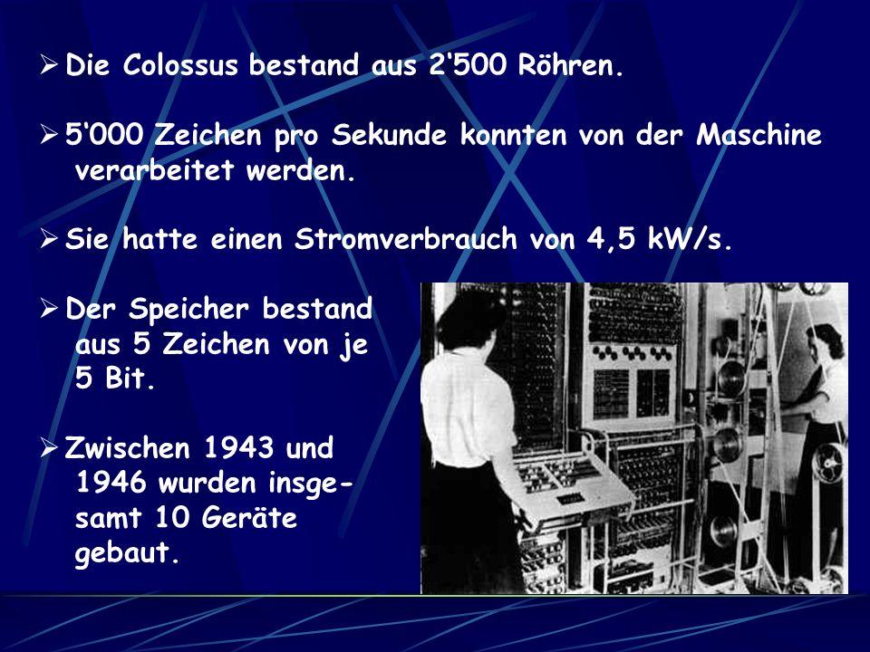 1943 hatten der britische Mathematiker Maxwell Herman Alexander Newman und der Telefoningenieur Thomas Howard Flowers den britischen Riesen fertiggest