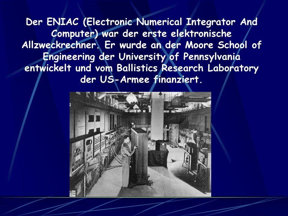 Der ASCC (auch MARK I genannt) funktionierte wie die Z3 über Relais. Er war 16 Meter lang und über 2 Meter hoch. Er konnte eine Multiplikation in durc