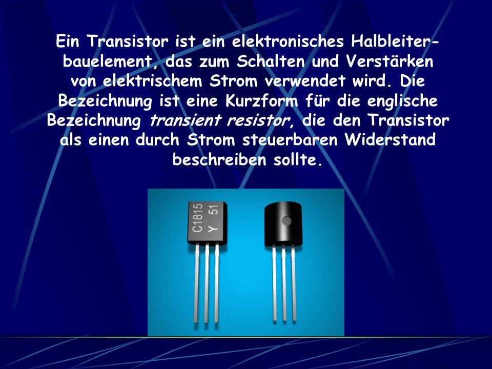 1948 gilt allgemein als das Jahr, in dem der Transistor erfunden wurde. Beteiligt an der Erfindung waren William Shockley, John Bardeen und Walter Bra
