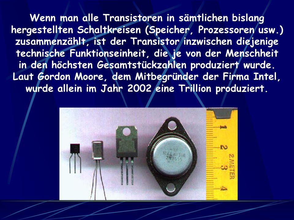 Ein Transistor ist ein elektronisches Halbleiter- bauelement, das zum Schalten und Verstärken von elektrischem Strom verwendet wird. Die Bezeichnung i