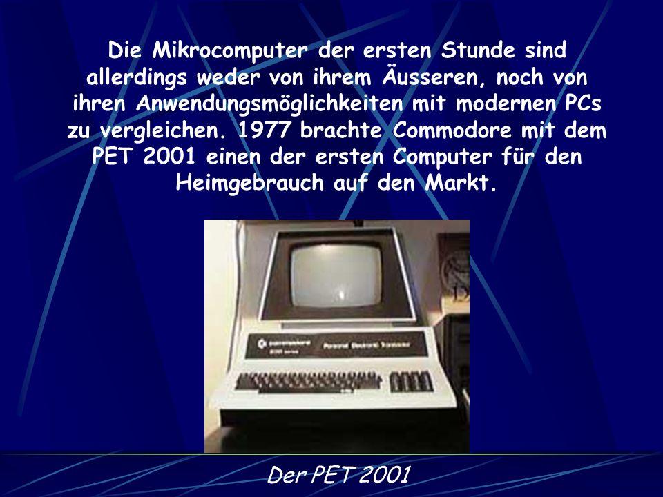 In den 70er Jahren wurden schliesslich integrierte Schaltkreise entwickelt, die die Verkleinerung der Computer noch weiter vorantrieben und es erstmal