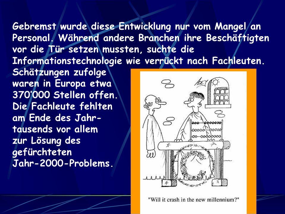 Der Computer-Boom der 90er Jahre kannte keine Grenzen: Erstmals hat die Informationstechnik und Telekommunikation 1999 in Deutschland mit mehr als 200