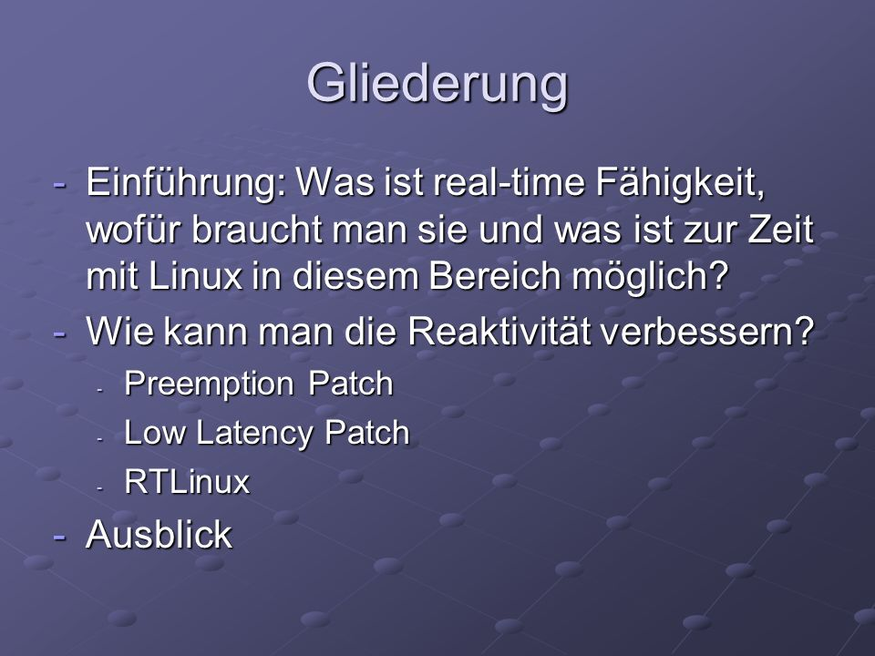 Was ist real-time.