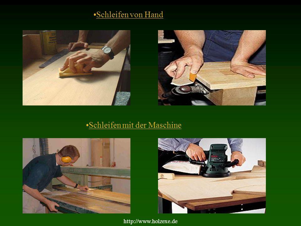 4 1.Schleifen Geschliffen wird mit Schleifpapier in verschiedenen Körnungen.