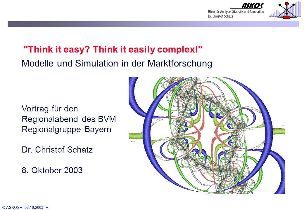 © ASKOS 08.10.2003 Vortrag für den Regionalabend des BVM Regionalgruppe Bayern Dr.