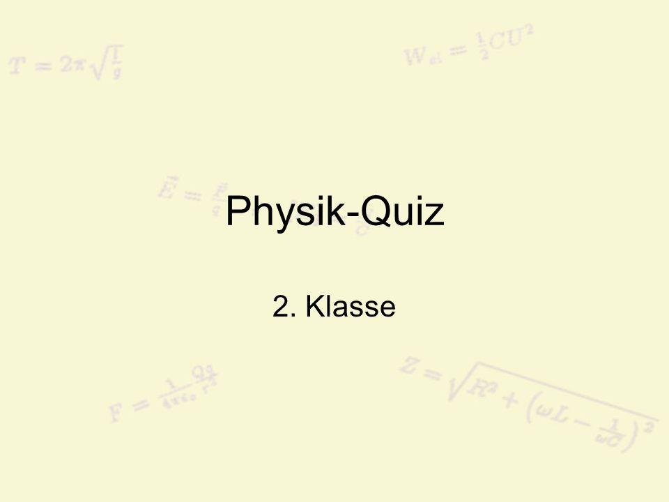 Frage 21: Wie lautet der Fachbegriff für Bewegungsenergie.