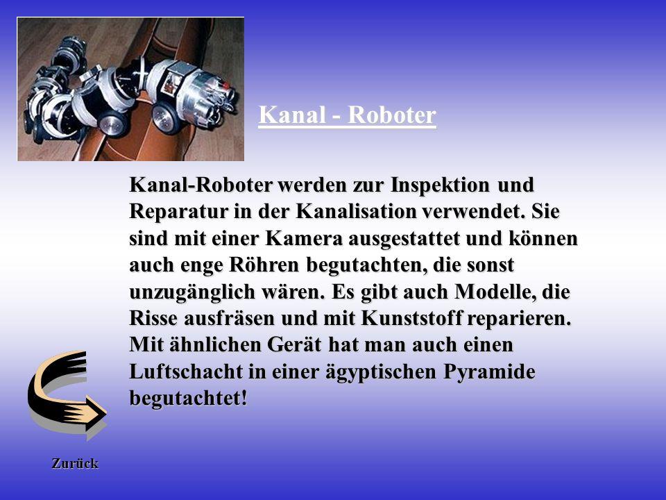 Industrie - Roboter Es gibt eine große Anzahl verschiedener Roboter, die in der Industrie heute eingesetzt werden zum Beispiel im Bereich von gesundhe