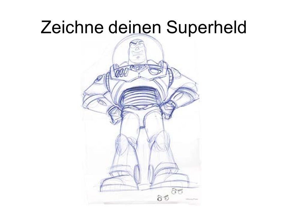 Zeichne deinen Superheld