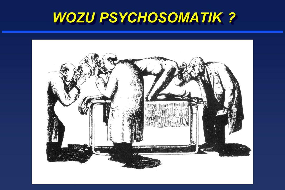 PSYCHOSOMATISCHE MEDIZIN ERFORSCHT DAS ZUSAMMENWIRKEN SOMATISCHER, PSYCHISCHER UND SOZIALER FAKTOREN BEI KÖRPERLICHEN BESCHWERDEN UND ERKRANKUNGEN, UM DIE ROLLE DIESER FAKTOREN IN DIAGNOSTIK UND THERAPIE BERÜCKSICHTIGEN ZU KÖNNEN.