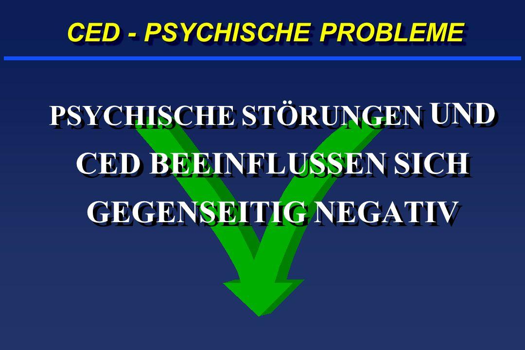 PSYCHISCHE STÖRUNGEN UND CED BEEINFLUSSEN SICH GEGENSEITIG NEGATIV CED - PSYCHISCHE PROBLEME